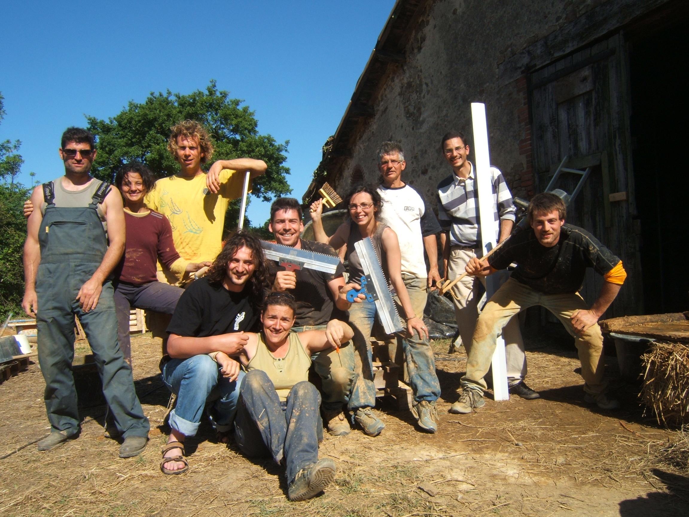 chantier participatif paille