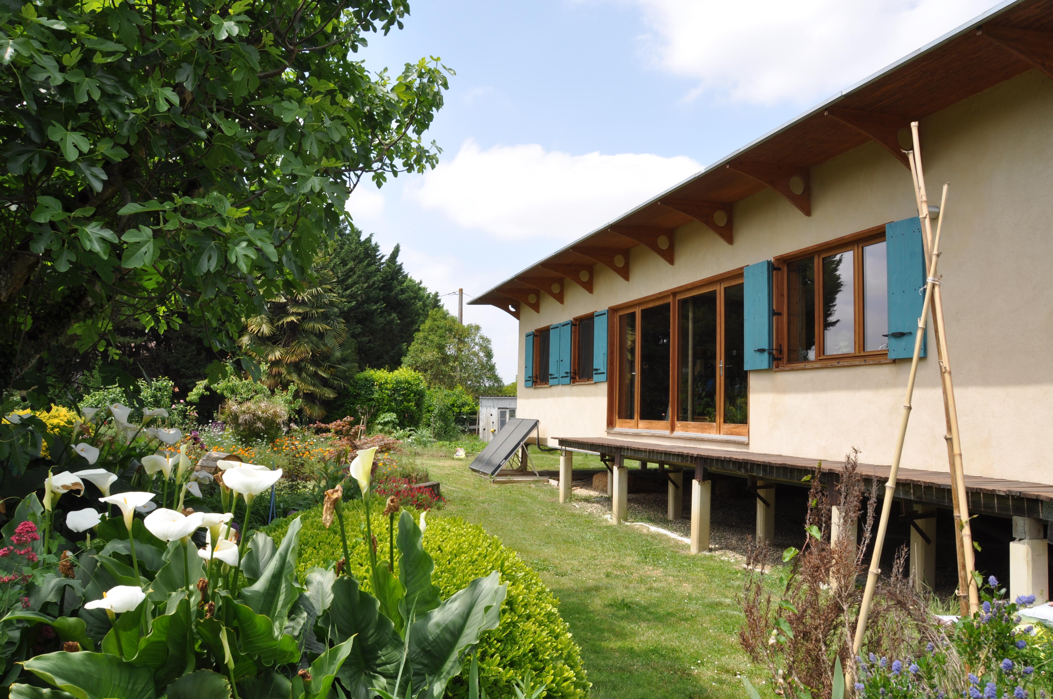 Cette maison dans le Gers allie l'écologique et le moderne. Crédit Gwendal Le Ménahèze