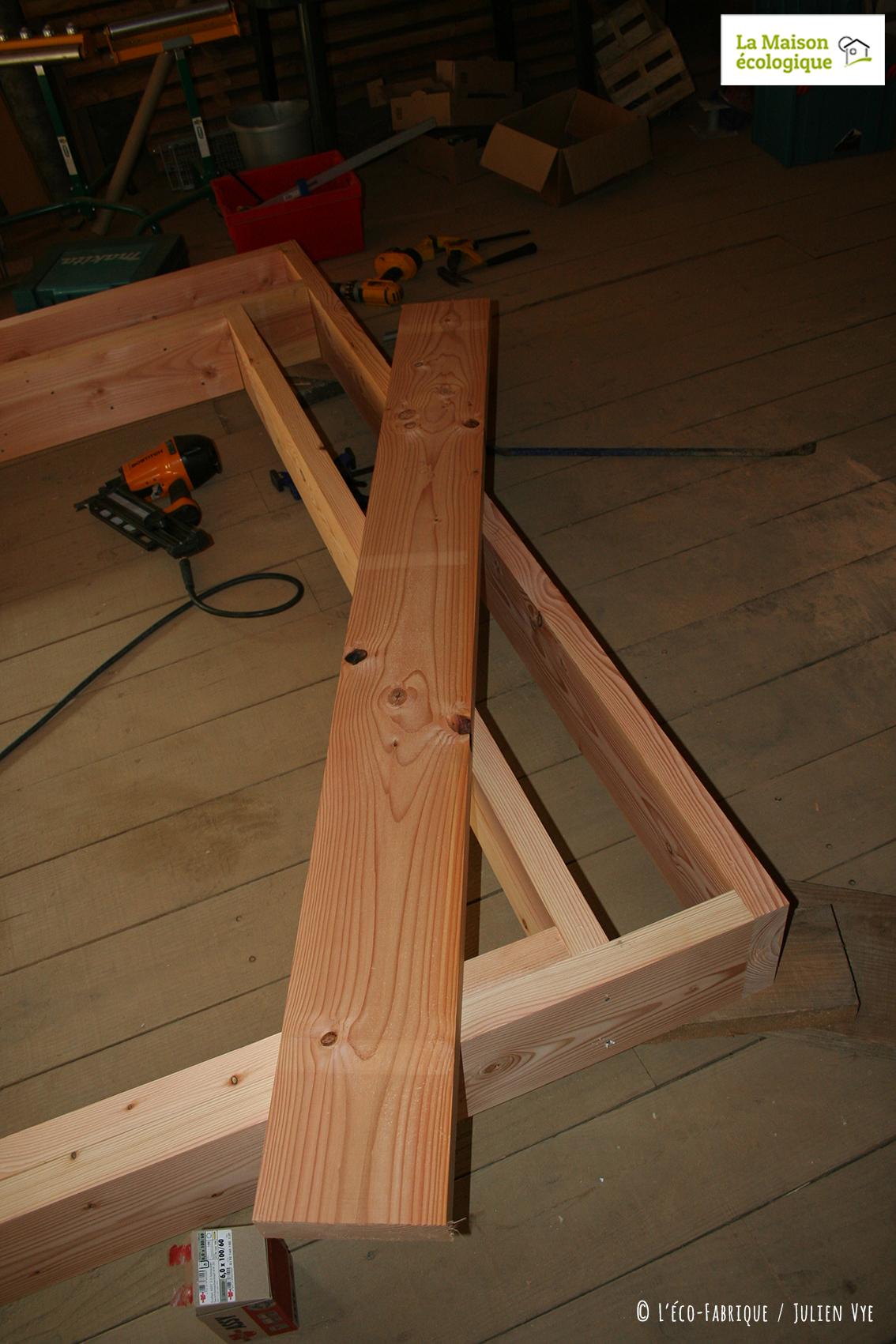 Ossature bois - étape de réalisation