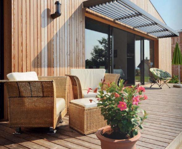 terrasse bois naturel