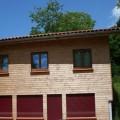fenêtre maison en bois