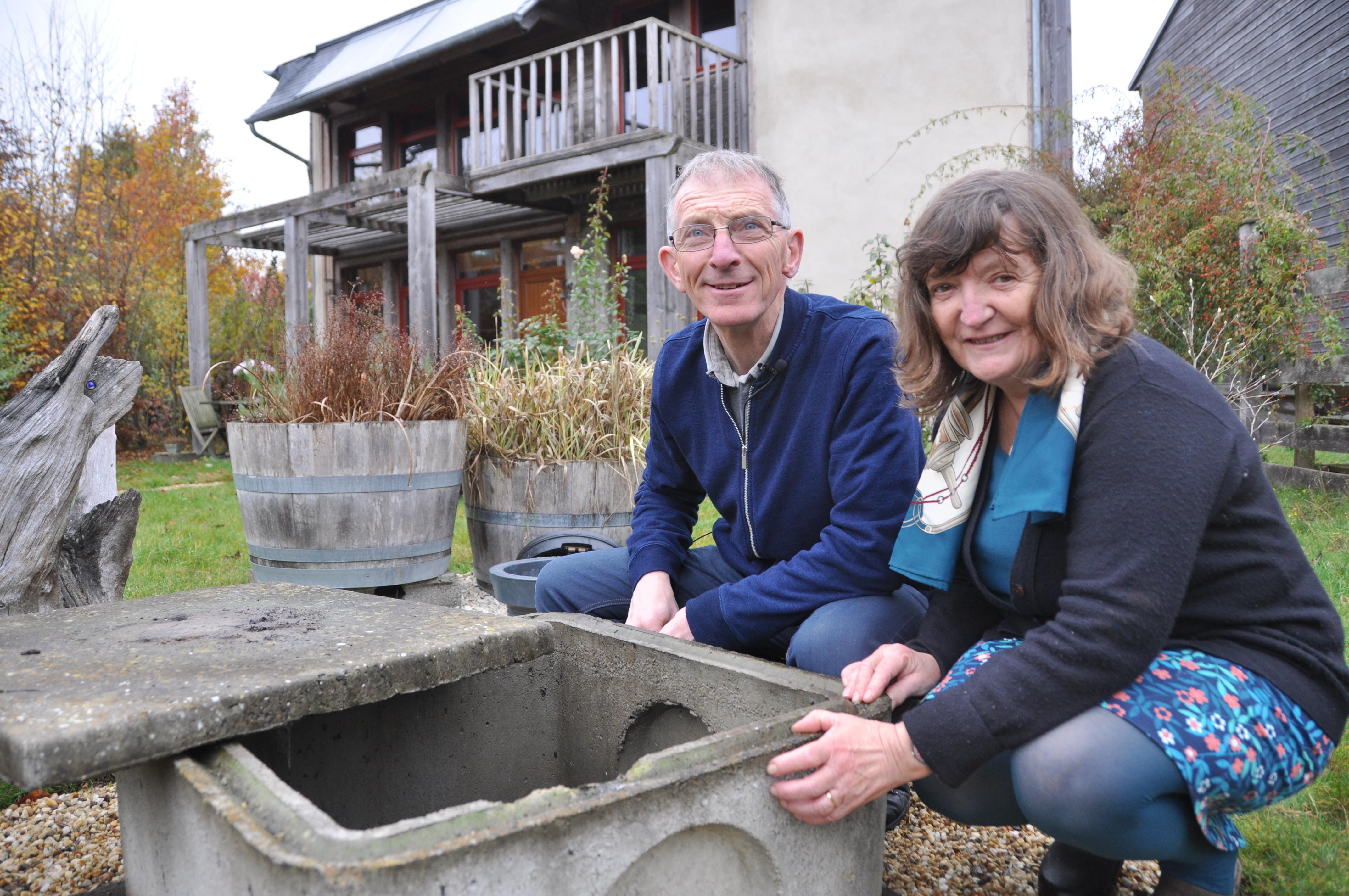 Récupération et utilisation de l'eau de pluie en Bretagne. Crédit Gwendal Le Ménahèze