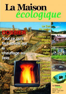 couverture magazine La Maison écologique n°1