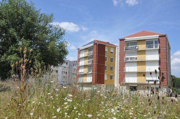 Immeuble en paille habitat groupé pour personnes âgées Chamarel à Vaulx-en-Velin. Crédit: Gwendal Le Ménahèze