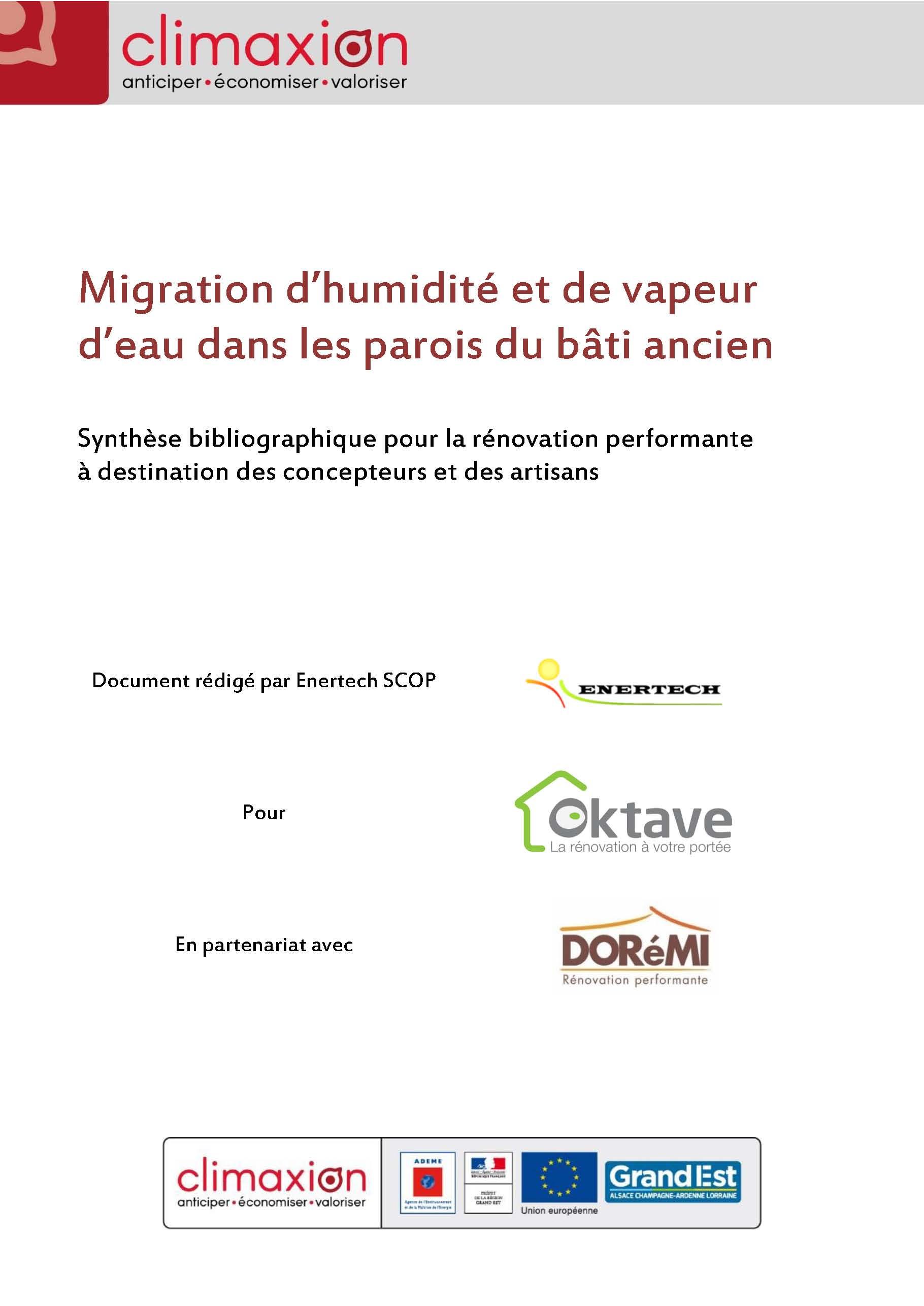 Migration d'humidite et de vapeur d'eau dans les parois du bati ancien