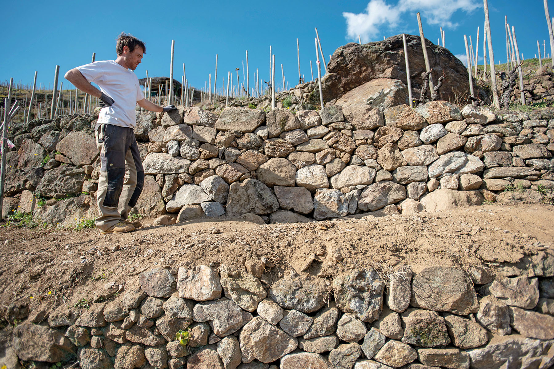 construire un mur en pierre seche
