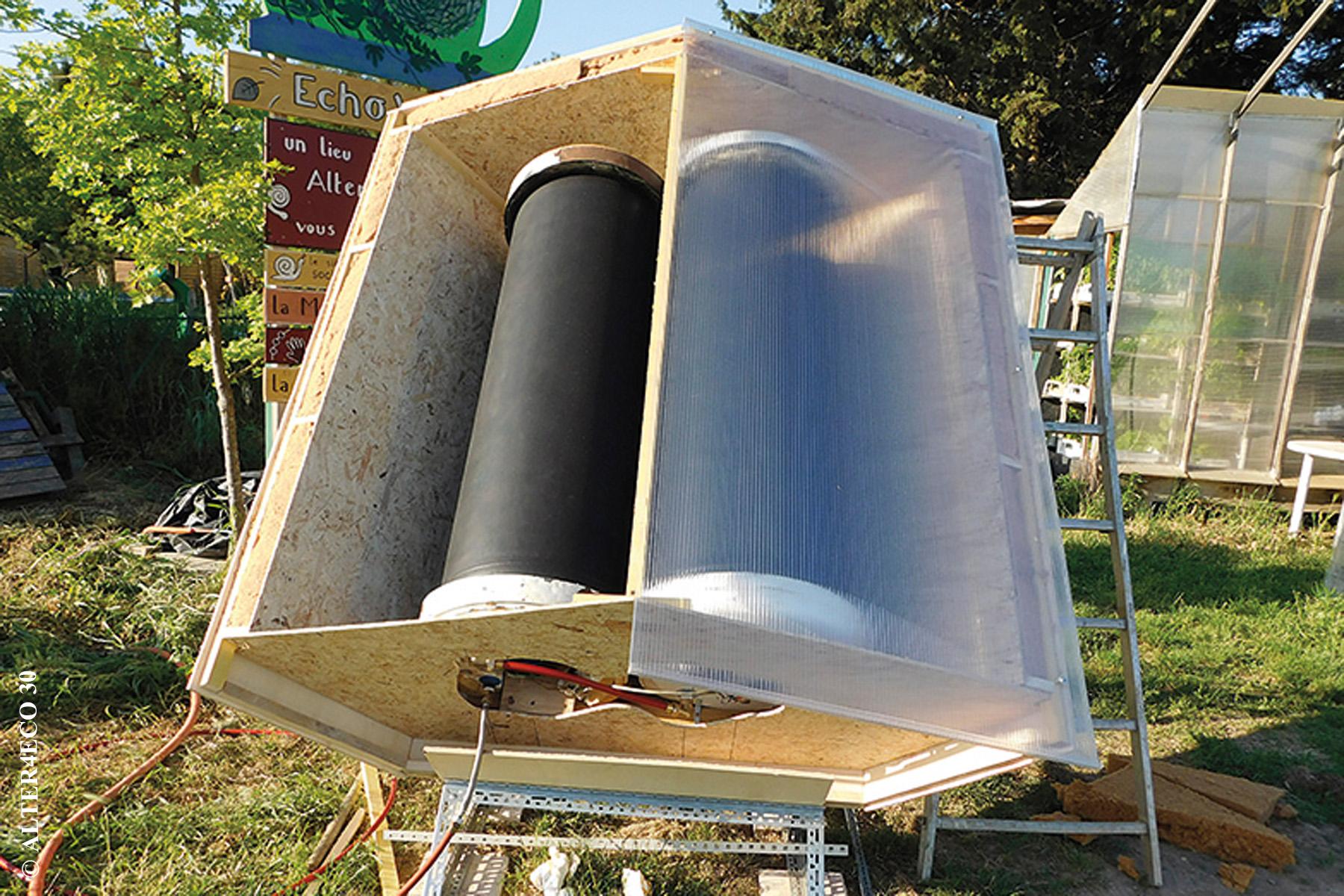 fabriquer un chauffe-eau solaire