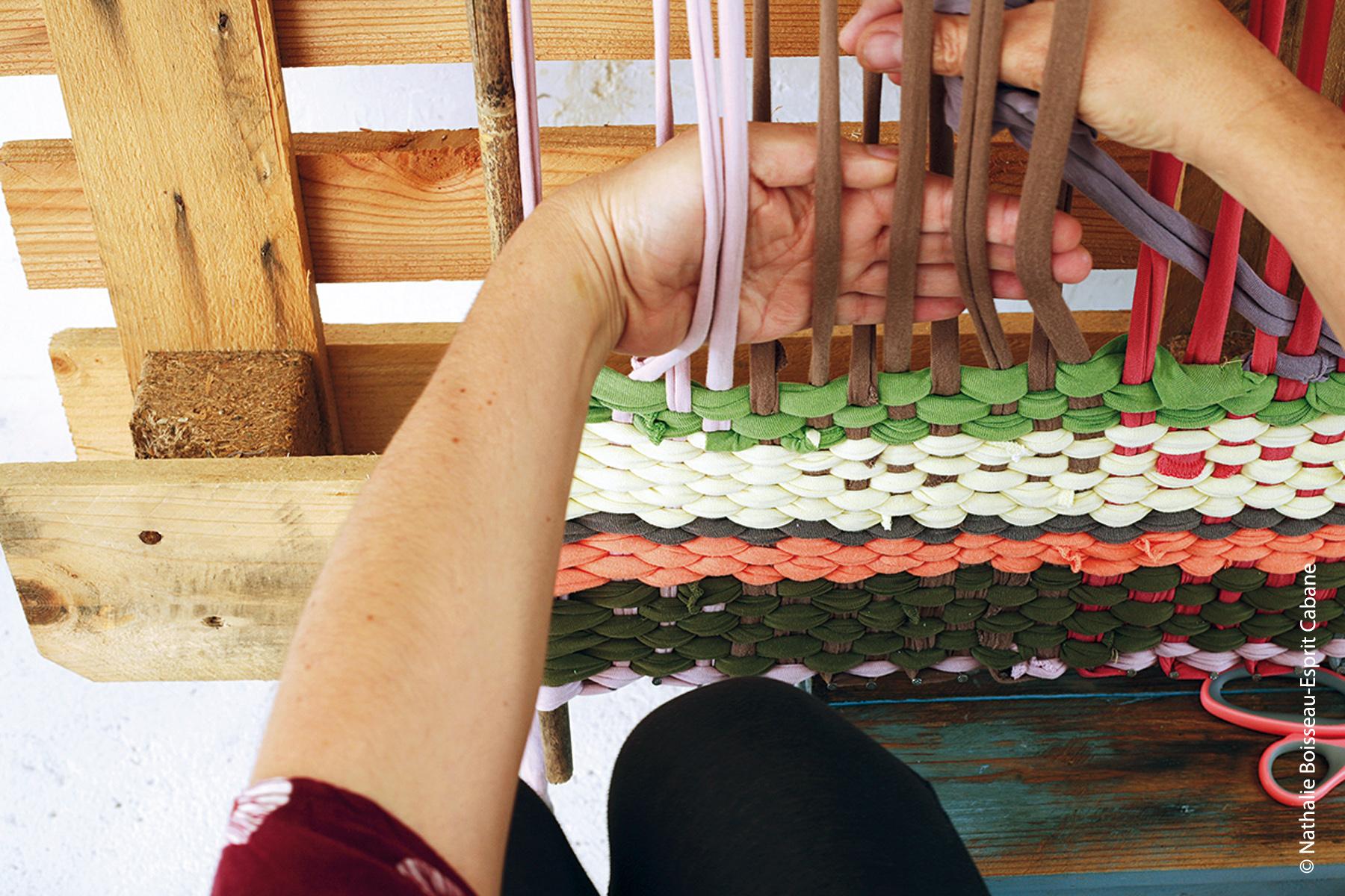 tapis en tissu recyclé