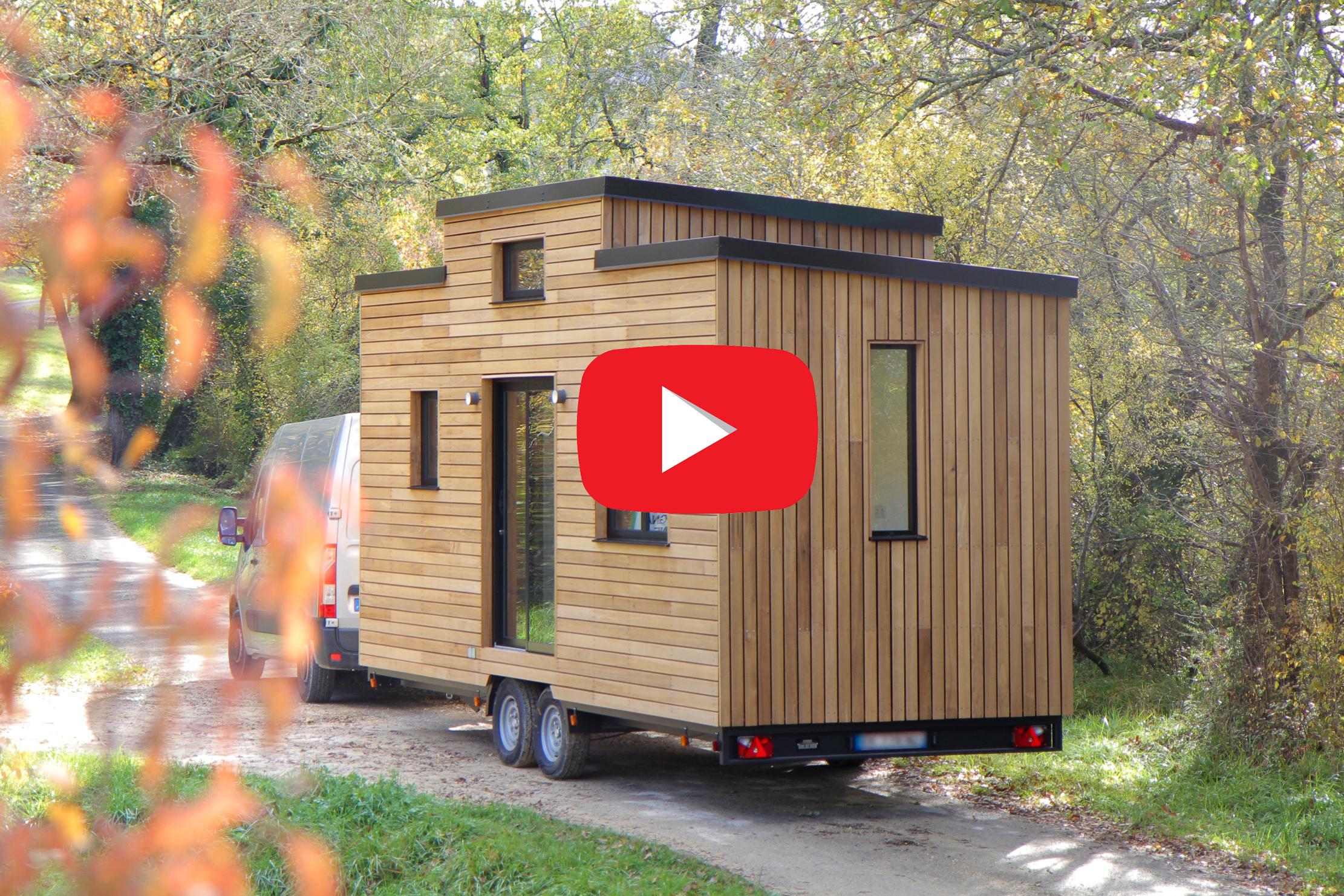 Tiny house écologique autoconstruite par Marc-Antoine et Floriane