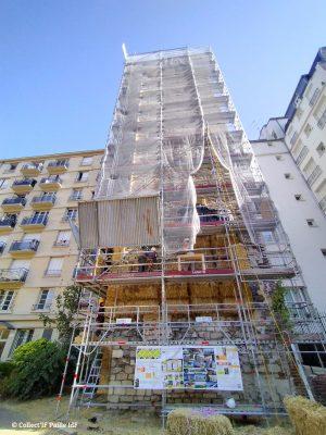 Immeuble isolé en paille paris © Collect'IF paille IdF
